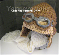 free shipping, Crochet AVIATOR Coffee Pilot HAT Newborn BABY Boy Handmade Shower Gift Photo Prop