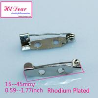 Wholesale 15/20/25/30/32/35/38/45mm Rhodium Plated Metal Brooch Back Pins/Bar Pins DIY Brooch Pins/Accessories For Women/ZKR2