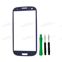 Gray/ Outer Front Screen Glass Lens for SamSung Galaxy SIII S 3 i9300 i747 T999 Colors
