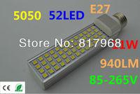 5PCS 11W 5050 SMD 52 LED E27 220v Corn Light Lamp  White/Warm White LED Bulb