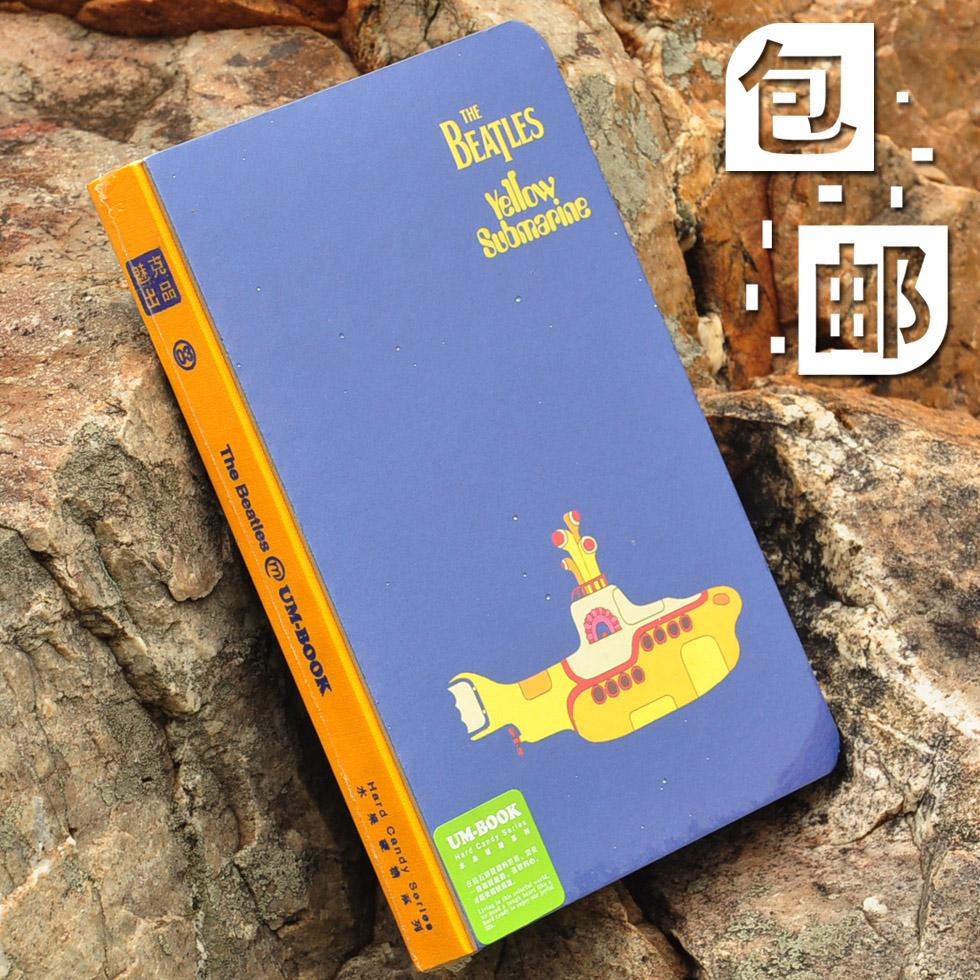 2pcs Hardcover notepad notebook lyrics record function of this yellow SUBMARINE free shipping(China (Mainland))