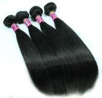 Brazilian Virgin queen Hair extension straight, Unprocessed soft human hair weave Straight Black mix length 3 bondles pcs lot
