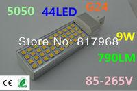 LED Bulb 220v 9W 5050 SMD 44 LED G24 Corn Light Lamp lights for home Cool White/Warm White 85V-265V Side lighting certification