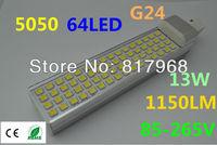 LED Bulb 220v 13W 5050 SMD 60 LED G24 Corn Light Lamp lights for home Cool White/Warm White 85V-265V Side lighting certification