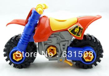 5 Pcs/Lot  Educational  Children Cute motorcycle Tinker toys blocks model of Truck Series