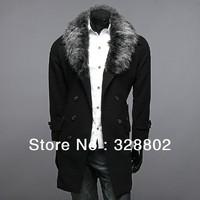 New 2014 Winter polo Fashion men's windbreaker trench coat men fall autumn jackets for men long coat men