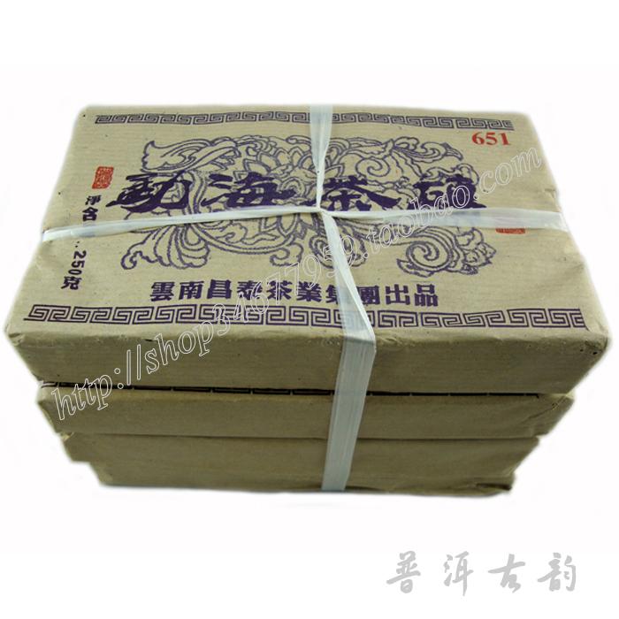 Freeshipping 651 Yi -chang Hao 2006YR Menghai Pu'er raw tea brick tea Changtai 250g brick old raw tea(China (Mainland))