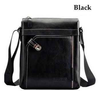 2013 Men's Fashion ZEFER Brand Shoulder Bags Business Handbag PU Leather messenger Bag Men Designer New