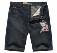 New arrival 2013 fashion men's denim shorts knee-length pants plus size
