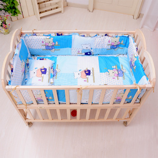 Paint eco-friendly quality folding solid wood baby bed patent product 819