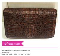 Free shipping Fashion crocodile skin double zipper wallet long design wallet clutch bag