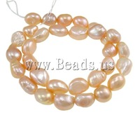 Free shipping!!!Baroque Cultured Freshwater Pearl Beads,Statement, Nuggets, pink, 10-11mm, Hole:Approx 0.8mm, Length:14.5 Inch