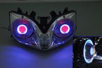 Projector Lamps Headlight Blue Angel Eye+Red Devil Eye For CBR 600 F4I 01-07 2001 2002 2003 2004 2005 2006 2007 [DD03-BR]