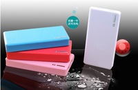 Wallet style LED Flashlight 20000mAh Power Bank External Portable Universal Phone Mobile power supply+ Retail box