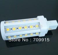 10pcs/lot Hot!!! 220V-240V cool white/warm white LED Bulb lamp G24/E27/B22/E14 9W 44PCS 5050LED corn light bulb