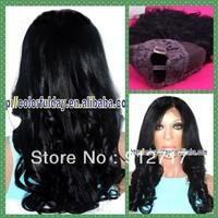 black natural wave virgin wavy hair virgin u part wig