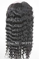 Cheap!!! High quality deep wave Brazilian hair wig