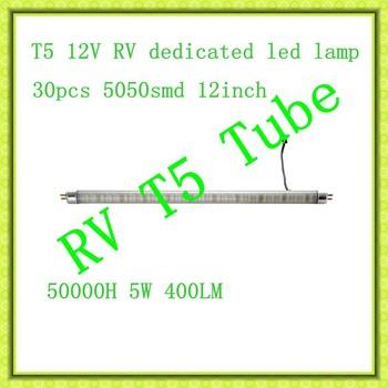 RV led light T5 tube solar,RV 8-30V Wide voltage constant current T5 LED Tube,T5  12V 24V RV LED Tube,RV T5 12Inch LED Tube.
