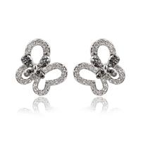 2014 Fashion Rhodium Butterfly Women  Rhinestones Stud Earrings  TE-2-58