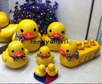 Gift b . duck piggy bank piggy bank big doll hand-done toy