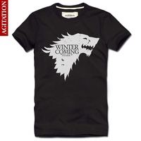 Cheap free shipping HEAR me ROAR t shirt men A Song of Ice and Fire tee The House of Stark Wolf  blusas fashion casual T-SHIRTS