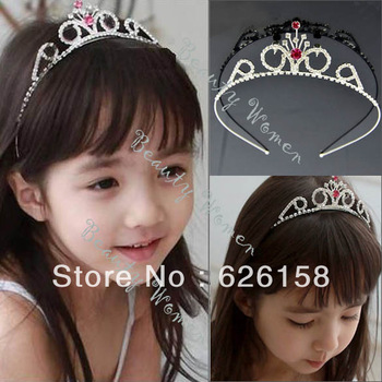 Rhinestone Princess Hair Band Headband Tiara For Kids & Girls 5895
