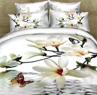 6 PCS Free shipping 3D flower printed bedclothes 3d bed linen home textile 3d bedding sets-GD-021-6