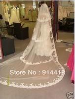 Free Shipping Discount White Ivory Wedding Bridal Veil Cheap Veils Wedding Long Veils For Bridal
