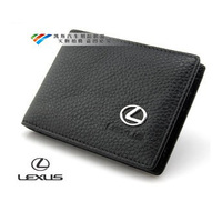Genuine Leather License Bag For Lexus rx270 es350 is250 ix570 rx350 es250 wallet purse notecase Car Logo Gift Free HK post