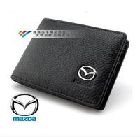 Genuine Leather License Bag For MAZDA 6 MAZDA3 cx-5 cx-7 wallet purse notecase Car Logo Gift Free HK post