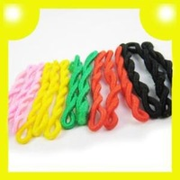 140pcs Colorful Elastic Rubber Flexible Hair Bands 8294 Free Shipping