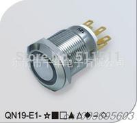 QN19-E1 19mm Ring Tail light metal waterproof car button switch