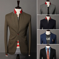 2013 Men's suit jacket autumn and winter 2 buckle long sleeve slim fit casual blazers men,9030