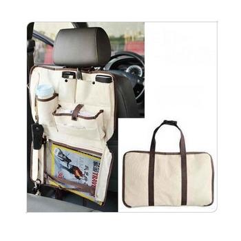 Free Shipping Foldable Oxford Fabric Car multi Pocket Storage Organizer Arrangement Bag for Back seat  Hot sale WJ-11