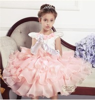 fashion brand new 2013 summer girl baby princess dress luxury wedding girls' dresses children party long dresses fit 2-10 years