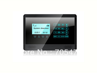 Wireless GSM Home Alarm System with LCD display and Voice tone and Touch screen 868mhz