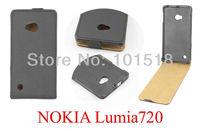 50PCS/LOT&Free shipping New Flip leather  cover case for Nokia lumia 720 ,Imitation of Korea