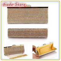 Whosele&Retail Women's Full Diamond Clutch Bags Evening Handbags Gold Black Silver NO 3086 Don't Miss It