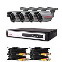 "CCTV DVR Kit with 4pcs 420TVL 1/4"" Sony CCD IR Cameras(4 Channel D1 Recording)"