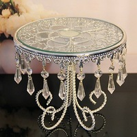 3039(19cm*22cm)crystal chain flower cake stand/fruit plate,Wedding supplies,HOME Decoration