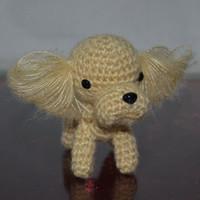Poodle Stuffed Toys Plush Animals Handmade dog dog doll Handicrafts hand-crocheted hand-woven Wool dog toy