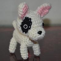 Bull Terrier Stuffed Toys Plush Animals Handmade dog dog doll Handicrafts hand-crocheted hand-woven Wool dog toy