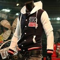 Free Shipping Men's fashion hoodies jackets R letter baseball shirt baseball uniform jacket M~XXL