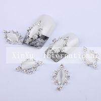 New Xmas Item Free Shipping Wholesale/ Nails Supply, 50 pcs/ lot 3D Alloy Glitter Water Drop DIY Acrylic Nails Design/ Nails Art