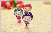 The new children's headdress cartoon young girl long hair clip hairpin manufacturers selling/Free shipping