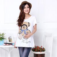 Maternity clothing summer 100% bear cotton short-sleeve T-shirt maternity top 62116  -107