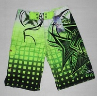2013 NEW MEN'S SURF BOARD SHORTS TREND BEACH SWIMMING PANTS CASUAL Green SA5