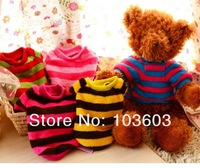 2013 new autumn PETCIRCLE super soft coral velvet stripes small vest, pet clothes, dog clothing, apparel, 6 color  Free Shipping
