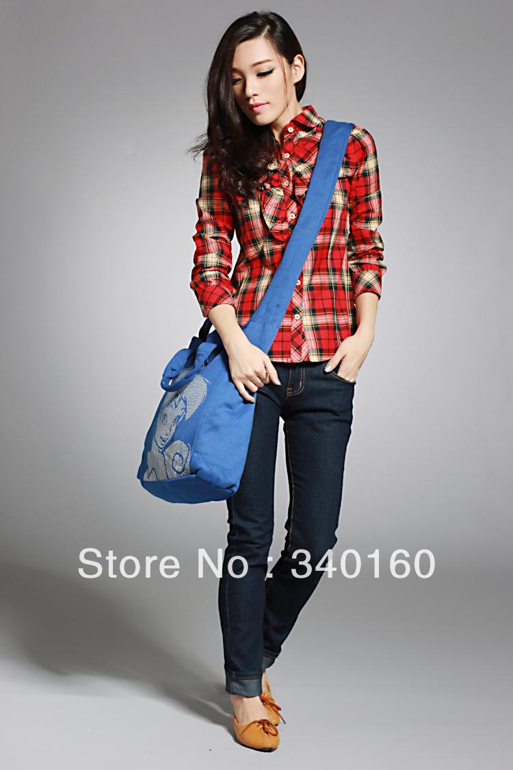 Preppystyle sports casual fairy handbag messenger bag(China (Mainland))