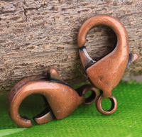 Free Shipping 150pcs/lot Antiqued Copper Lobster Clasps 11mm,Spring Lobster Clasps, Jewelry Findings Clasps S614